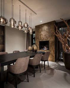 Luxury Dining Room, Dining Room Design, Dream Home Design, Home Interior Design, Home Living Room, Living Room Decor, Home Kitchens, House Styles, Home Decor