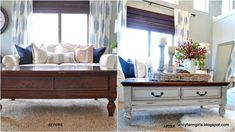 Furniture Makeover – All Things Thrifty 70s Furniture, Repurposed Furniture, Furniture Makeover, Painted Furniture, Coffee Table Makeover, Coffee Table With Drawers, Furniture Inspiration, Hobbies And Crafts, Rustic Decor