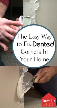 Home Improvement 290482244716411988 - How to easily fix dented corners in the drywall throughout your home. You don't need a handyman to fix dented corners, just this easy tutorial! Source by kleomcleod Home Improvement Loans, Home Improvement Projects, Home Projects, Home Renovation, Home Remodeling, Bathroom Remodeling, Drywall Corners, Drywall Repair, Patching Drywall