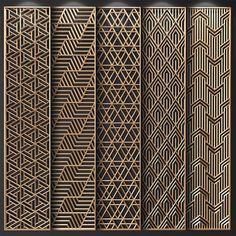 Modern screen partition interiors 48 New Ideas Decorative Metal Screen, Wooden Screen, Decorative Panels, Decorative Objects, Jalli Design, Gate Design, Laser Cut Screens, Laser Cut Panels, Pattern Wall