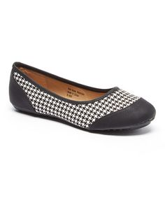 Loving this Black & White Houndstooth Flat on #zulily! #zulilyfinds
