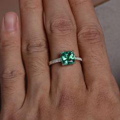 Biron creato gemma anello smeraldo anello anello di KnightJewelry