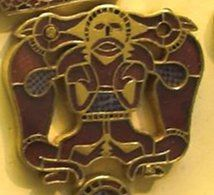 Sutton Hoo purse wolf-warrior - Wōdanaz - Wikipedia, the free encyclopedia Another recurring scene shows a warrior fighting two wild beasts (wolves or bears)