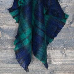 Classic Mohair Knee Rug | Excellent Quality, Lightweight, with Classic Check in Deep Blues and Greens