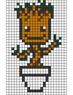 Guardians of the Galaxy Groot Hama bead pattern-EZ