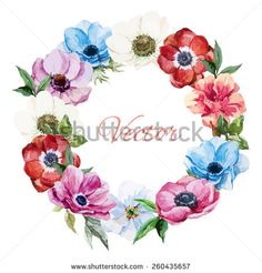http://thumb101.shutterstock.com/display_pic_with_logo/2307533/260435657/stock-vector-watercolor-wreath-frame-anemone-boho-peony-260435657.jpg