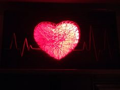 Heartbeat lamp • releases good vibes & love • made by my sweet half @andreanazza420 ❤️