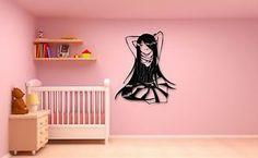 Wall Stickers Vinyl Decal Oriental #Anime #Girl Cartoon for #Kids ig555