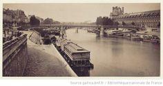 Le pont du Carrousel avec les quais et le Louvre / The Carrousel bridge with the banks and Le Louvre, 1859-1860