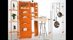O sistema LYNKO funciona como escritório compacto, guarda-roupas, estante e até…