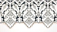 Border Stencils | Large Persian Lace Stencil | Royal Design Studio