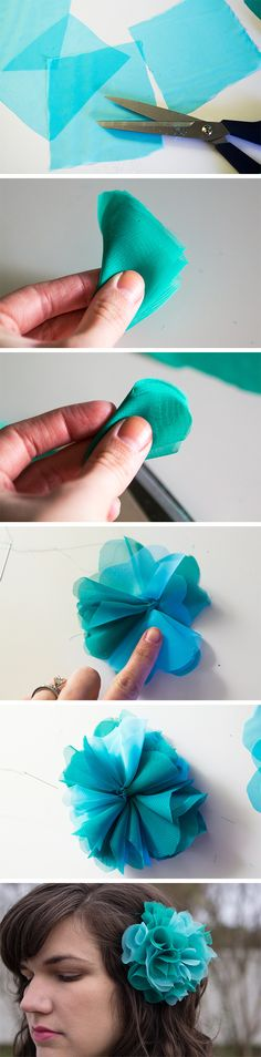 Diy hair 184155072237105193 - DIY Pom Pom Hair Clip Source by sarahhearts Handmade Flowers, Diy Flowers, Fabric Flowers, Fabric Ribbon, Ribbon Bows, Ribbons, Making Hair Bows, Diy Hair Accessories, Flower Tutorial