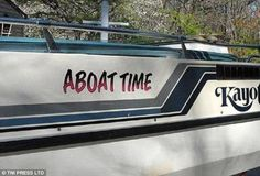 clever funny boat names 7 There are some clever boat names out there Photos) Clever Boat Names, Funny Boat Names, Name Pictures, Funny Pictures, Boat Captions, Ocean Puns, Boat Humor, Buy A Boat