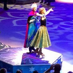 Anna and Elsa During Frozen On Ice