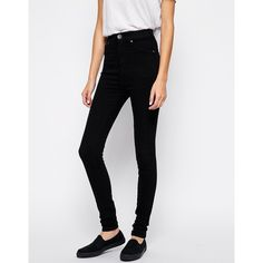Dr Denim Kissy Super Skinny Jeans ($65) ❤ liked on Polyvore featuring jeans, black, skinny leg jeans, dr denim jeans, super stretchy skinny jeans, stretchy jeans and zipper jeans