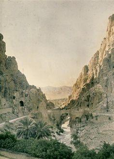 Gorges d'Al Kantara, Algérie  Description :  photo prise vers 1907-1913  Auteur :  Chouanard Henri (1883-1936)