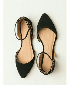 72ea83835ed These beautiful matte black flats feature a pointed toe