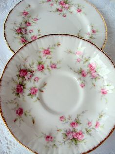 Vintage Paragon Fine China,Queens Pottery,Bread Plate and Saucer,Victorian Rose,Dining Serving,1960s,Replacements,Bridal,Made in England