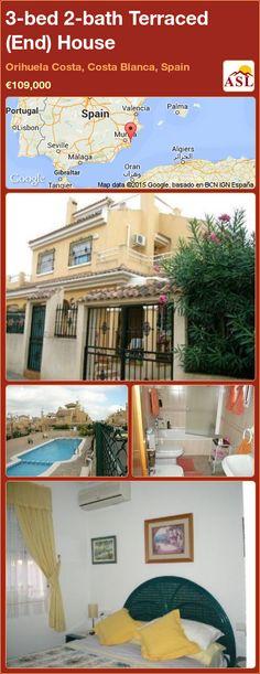 3-bed 2-bath Terraced (End) House in Orihuela Costa, Costa Blanca, Spain ►€109,000 #PropertyForSaleInSpain