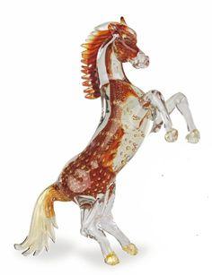 Murano Italian Glass Decor Lights, Lighting, Lamps and more - Murano Glass Horse Raring reg gold figurine, $3,335.00 (http://www.italiandecor-glasslights.com/figurines-and-animals/murano-glass-horse-figurines/murano-glass-horse-raring-reg-gold-figurine/)