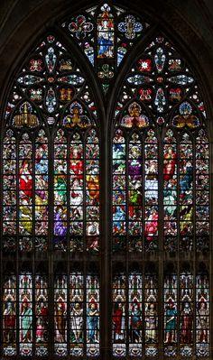 St Salvator, Bruges: Northern Transept Window