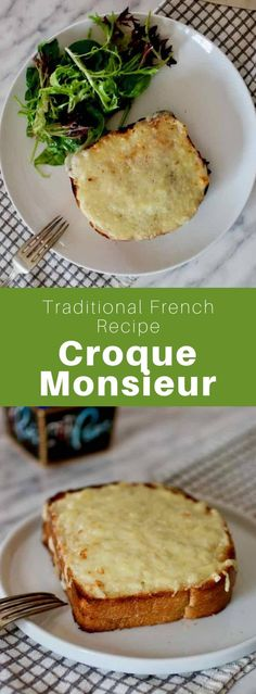 A croque-monsieur is a typical toasted French sandwich composed of two slices of… – Gesundes Abendessen, Vegetarische Rezepte, Vegane Desserts, Salsa Bechamel, Bechamel Sauce, French Dishes, French Food, French Cafe, French Sandwich, Popular Chinese Dishes, Roast Beef Sandwich, Baguette Sandwich