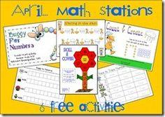 K/1 Math Stations Free