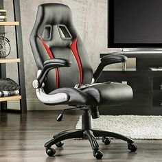 High Back Executive Office Chair Ergonomic Computer Desk Racing Gaming Chairs #affilink Executive Office Chairs, Gaming Chair