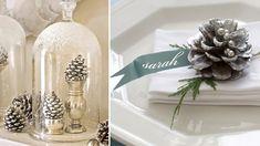 decoracao natal branco prata