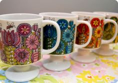 vintage mugs of this lovely variety, I love the base