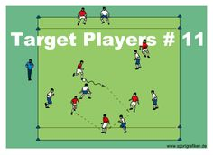 http://www.top-soccer-drills.com/target-players--11.html #possessionsoccergames #possession #soccer #games