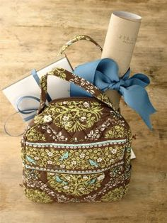 Baby Shower Hostess Gifts... Vera Bradley Lunch Bag, Personalized Stationery & Labels