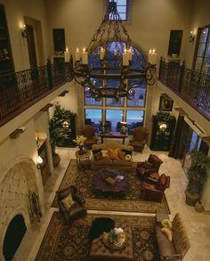 Seven Oaks Residence - mediterranean - living room - austin - Cornerstone Architects