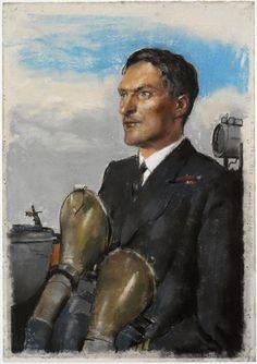 Commander P Gretton, DSO, OBE, DSC, RN. A half-length portrait of Commander P Gretton in uniform, on the deck of the ship.