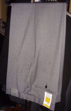 Marks & Spencer Gray Dress Trousers Pants Size 44/33 New Tag Washable Wool Blend #MarksandSpencer #DressTrousersPants