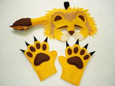 Children's Safari Animal LIONS Felt Costume Set by magicalattic, $35.00