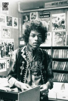 Jimi Hendrix on the official poster for Record Store Day 2013