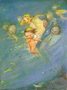 ♒ Mermaids Among Us ♒ art photography & paintings of sea sirens & water maidens - The Water Babies by Mabel Lucy Attwell
