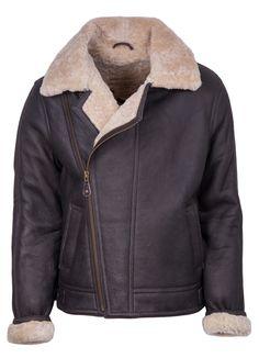 64c98b013c1c Blenheim Vintage Sheepskin Aviator Flying Jacket in Dark Brown Leder Für  Männer, Lederjacke, Fliegerjacken
