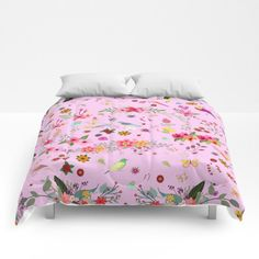 Decoración para el hogar ropa de cama azul cerezo reina moderna ropa de cama del rey rosa flores amapolas coloridos edredones personalizados ropa de cama ropa de cama-aves