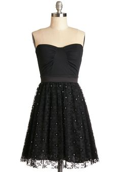 Classy Hour Dress. Arrayed in this strapless black party dress, youre guaranteed to have a magical time! #black #prom #modcloth