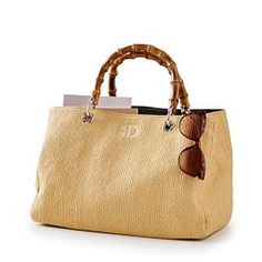Natural woven straw adds a vacation-ready touch to this easy breezy, transport-you-to-an-island kind of tote. With soft handles, a zipper closure and linen lining, this spacious tote makes the perfect carryall for beach trips, weekend getaways and… Bags Online Shopping, Online Bags, Shopping Bag, Mark And Graham, Red Handbag, Leather Handle, Leather Totes, Tote Handbags, Straw Handbags