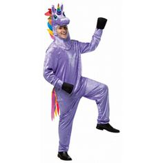 Unicorn Raibow Adult Costume