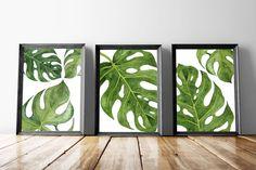 Palm Wall Art Prints | Palm Leaf Poster | Monstera Leaf Art | Tropical Wall Poster | Palm Leaf Prints | Botanical Leaf Art | Palm Leaves