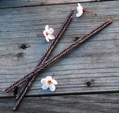 Rustic Twist Hairsticks by DreamingDragonDesign.deviantart.com on @deviantART