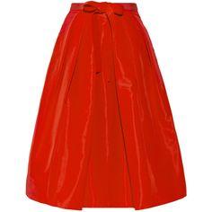 Tibi Pleated silk-faille skirt (1.935 BRL) ❤ liked on Polyvore featuring skirts, faldas, gonne, tibi, red, midi, pleated midi skirt, silk skirt, silk pleated skirt and midi skirt