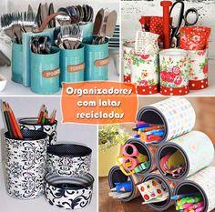 Panelaterapia | Organizadores com Latas Recicladas | http://panelaterapia.com