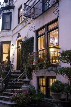 Beautiful Exterior: brownstone townhome
