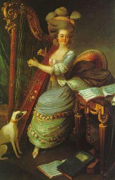 La jeune harpiste von Lié-Louis Périn-Salbreux