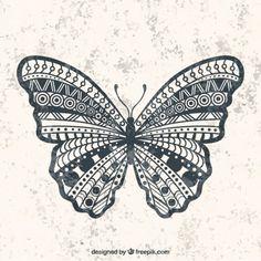幾何学的な蝶 無料ベクター